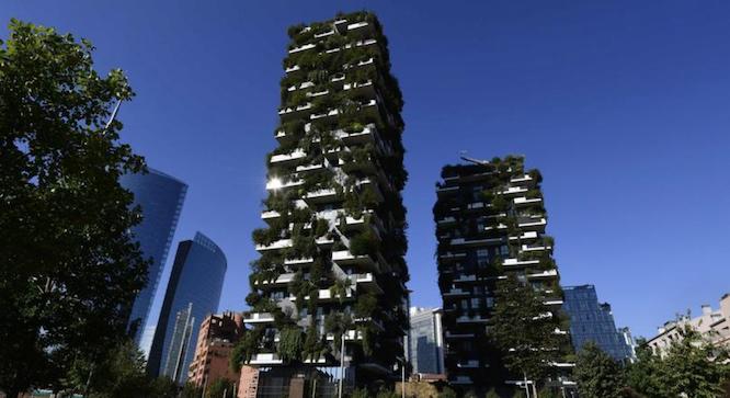 Les deux tours Bosco Verticale à Milan - Crédits : AFP / MIGUEL MEDINA