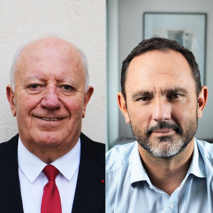 André Garron, Maire de Solliès-Pont et Julien Meyrignac, urbaniste en charge du projet
