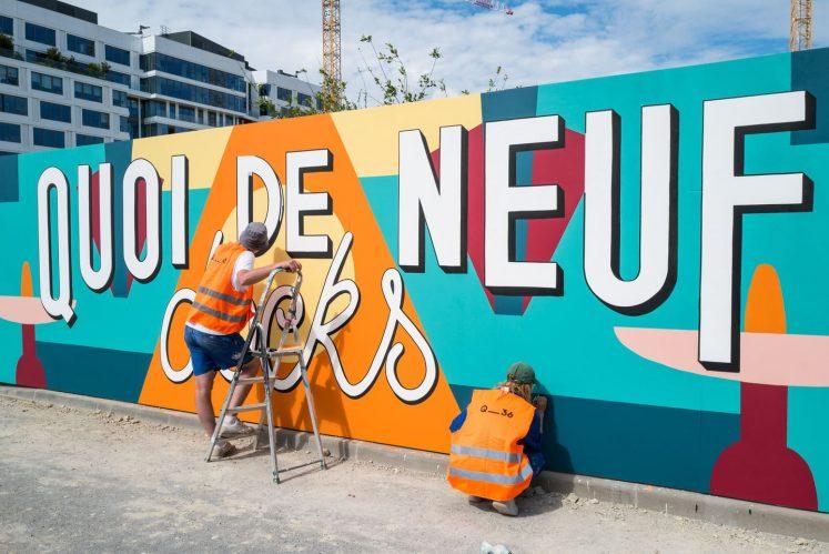 Fresque réalisée par Quai_36 dans le quartier des Docks de Saint-Ouen (©DR)
